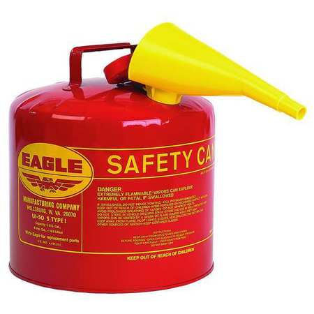 Type I Safety Can, 5 gal, Red