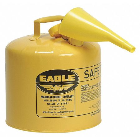 Type I Safety Can, 5 gal, Yellow