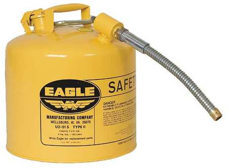 Type II Safety Can, Yellow, 15-7/8 In. H