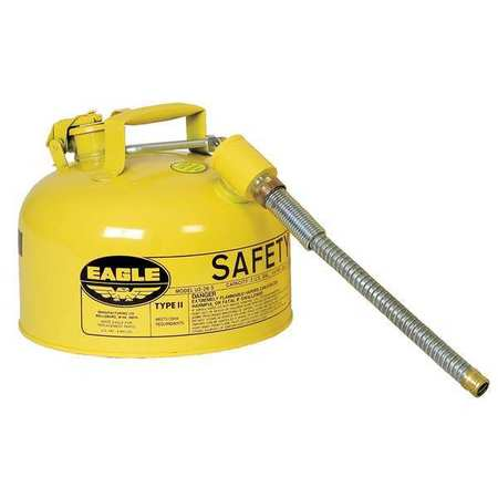 Type II Safety Can, Yellow, 9-1/2 In. H