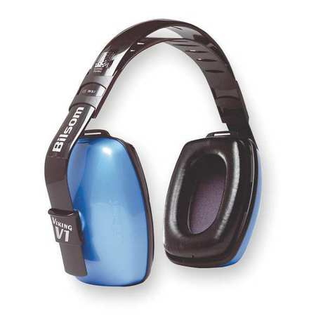 Ear Muff, 26dB, Multi-Position, Blue