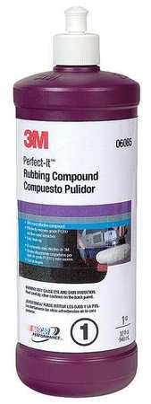 Rubbing Compound, 1 Qt., Bottle, White
