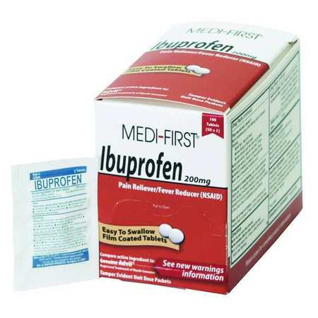 Ibuprofen, Tablet, 200mg, PK100