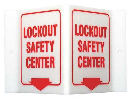 Lockout Sign, 6 x 9In, R/WHT, ACRYL, ENG