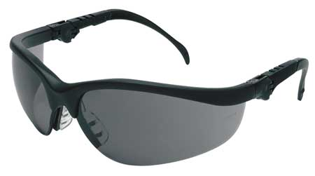 Crews Gray Safety Glasses,  Scratch-Resistant,  Half-Frame