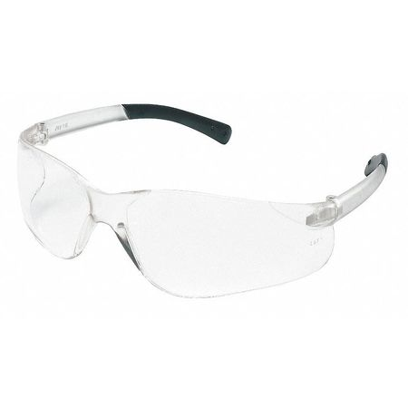 Crews Clear Safety Glasses,  Anti-Fog,  Scratch-Resistant,  Wraparound