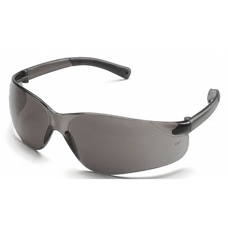 Crews Gray Safety Glasses,  Anti-Fog,  Scratch-Resistant,  Wraparound