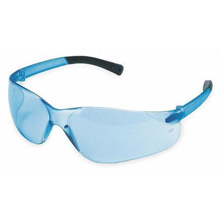 Crews Light Blue Safety Glasses,  Scratch-Resistant,  Wraparound