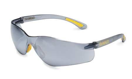Dewalt Light Blue Safety Glasses,  Scratch-Resistant,  Wraparound