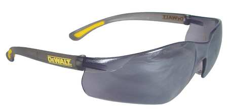 Dewalt Silver Mirror Safety Glasses,  Scratch-Resistant,  Wraparound