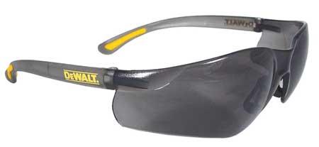 Dewalt Smoke Safety Glasses,  Scratch-Resistant,  Wraparound