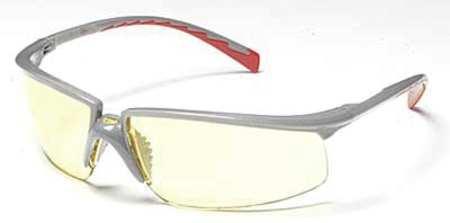 3M Amber Safety Glasses,  Anti-Fog,  Half,  Wraparound