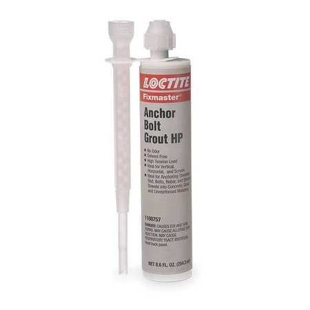 Anchor Bolt Grout HP Kit, 8.6fl. oz., Gray