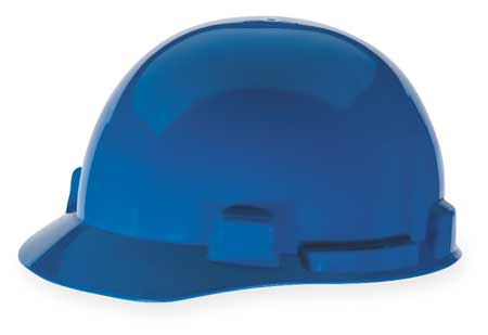 Hard Hat, FrtBrim, Slotted, 4Rtcht, Blue