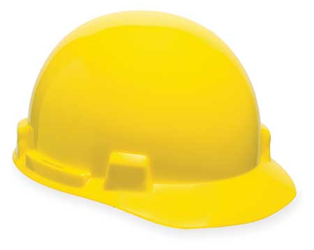 Hard Hat, FrtBrim, Slotted, 4Rtcht, Yellow