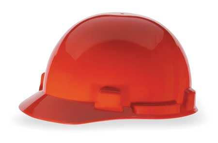 Hard Hat, FrtBrim, Slotted, 4Rtcht, Red