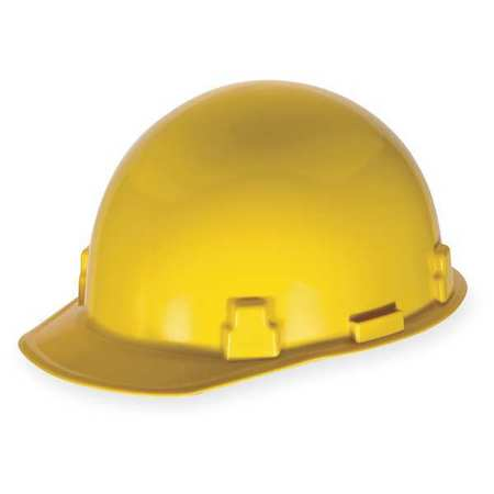 Hard Hat, FrtBrim, Slotted, Rtcht, Yellow