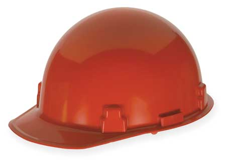 Hard Hat, FrtBrim, Slotted, Rtcht, Red