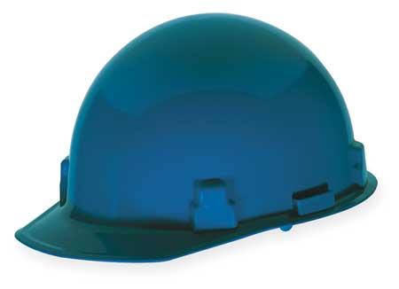 Hard Hat, FrtBrim, Slotted, Rtcht, Blue