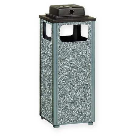 Ash/Trash Can, 12 gal., Gray