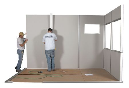 Gentil Modular In Plant Office, 4 Wall, 8x8, Steel