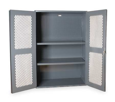 Pegboard Cabinet, H 72, W 48, 2 Shelves