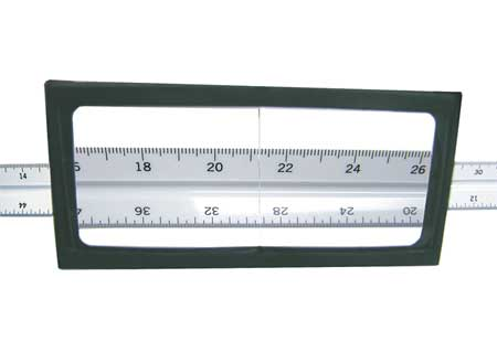 Plastic Magnifier Plate, 2.25 Diopter