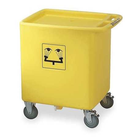 Eyewash Station Waste Container, Yellow
