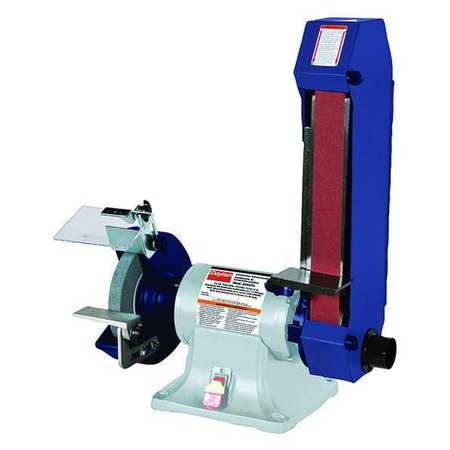 Combo Belt & Bench Grinder, 8 In Dia, 2x48
