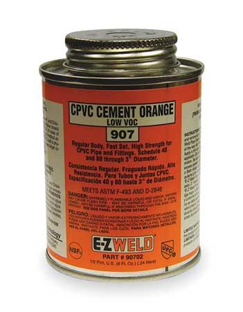 CPVC Cement, 8 Oz, Orange