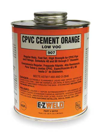 CPVC Cement, 32 Oz, Orange