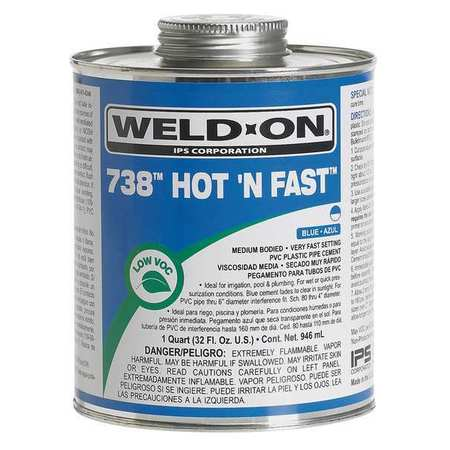 Cement, PVC, 8 Oz, Blue