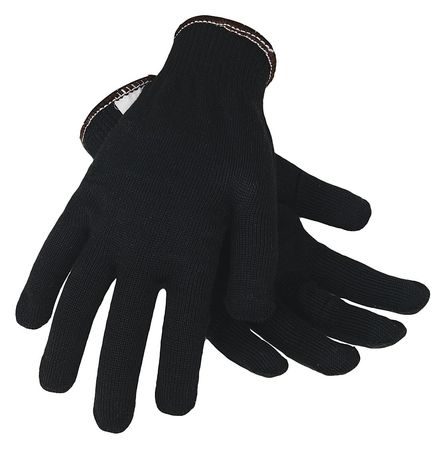 Cut Resistant Gloves, Black, L, PR