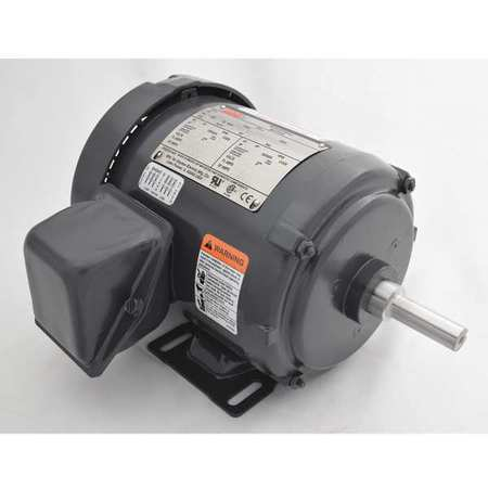 Mtr, 3 Ph, 1/2hp, 3500, 208-230/460, Eff 68.0