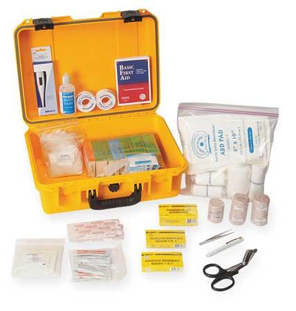 First Aid Kit, Bulk, Yellow, 62 Pcs, 50 Ppl