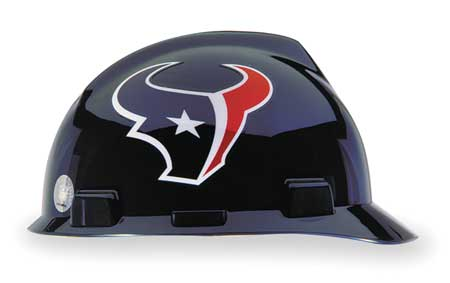 NFL V-Gard Hard Hat,  Houston Texans,  Blue/Red