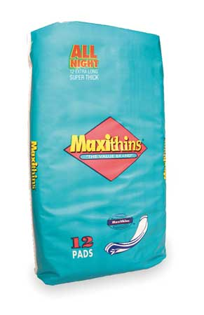 All Night OB Maxi Pads, White, PK288