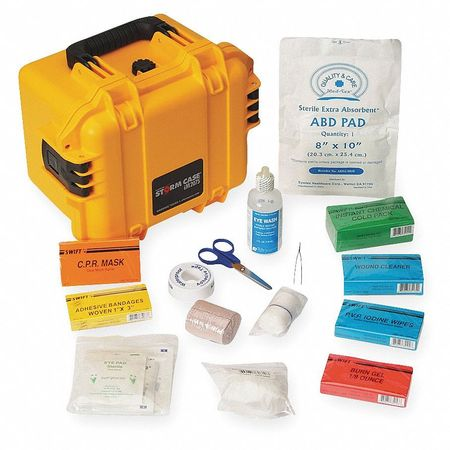 First Aid Kit, Bulk, Yellow, 35 Pcs, 10 Ppl