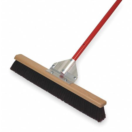 TOUGH GUY Burgundy Polypropylene Push Broom with Handle