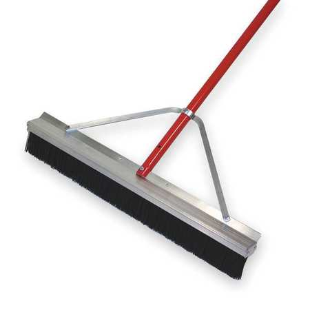 TOUGH GUY Black Polypropylene Push Broom with Handle
