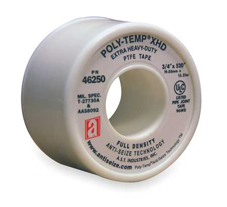 Thread Sealant Tape, 3/4 In. W, 520 In. L