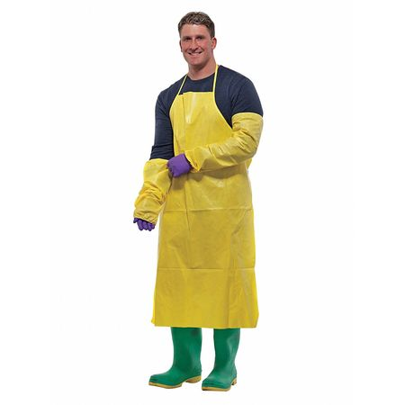 Disposable Apron, Yellow, PK100