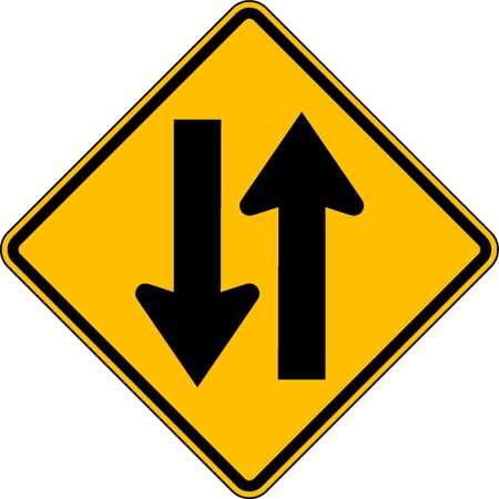 Traffic Sign, 24 x 24In, BK/YEL, SYM, W6-3