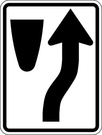 Traffic Sign, 24 x 18In, BK/WHT, SYM, R4-7
