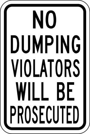 Traffic Sign, 18 x 12In, BK/WHT, Text, R16-3