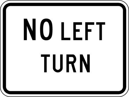 Traffic Sign, 18 x 24In, BK/WHT, DMD GR AL