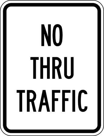 Traffic Sign, 24 x 18In, BK/WHT, Text