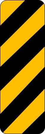 Traffic Sign, 12 x 6In, BK/YEL, SYM