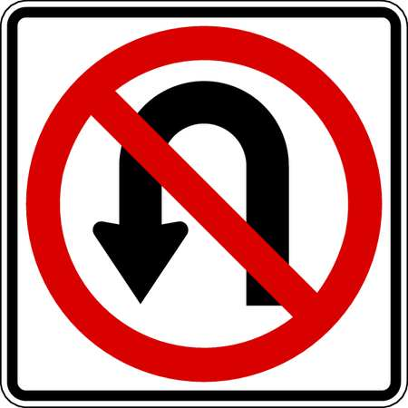 Traffic Sign, 24 x 24In, R and BK/WHT, SYM