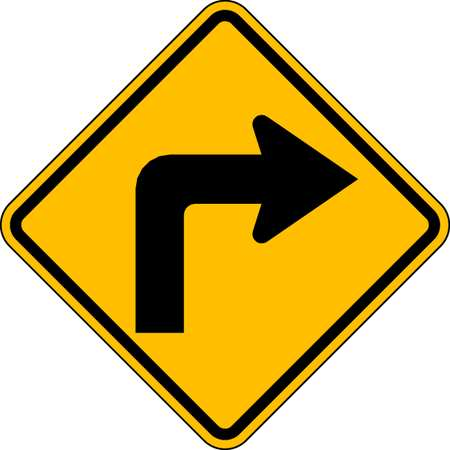 Traffic Sign, 24 x 24In, BK/YEL, DMD GR AL
